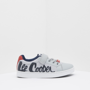 Lee Cooper Textured Sneakers with Hook and Loop Closure