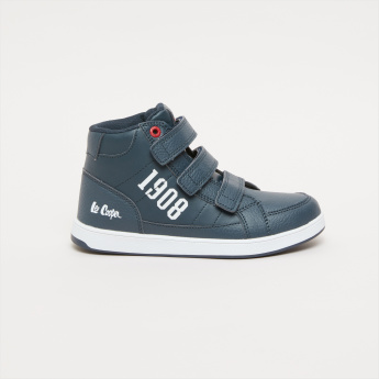 1449f0e8ff6 Lee Cooper Printed High-Top Shoes with Hook and Loop Closure ...