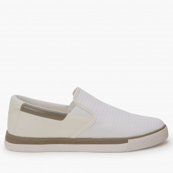 4aae666477 Lee Cooper Textured Slip-On Shoes | White | Comfort