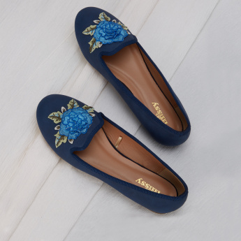 Little Missy Slip-On Shoes with Applique Detail