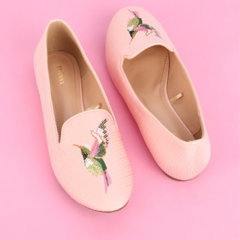 Missy Embroidered Slip-On Shoes