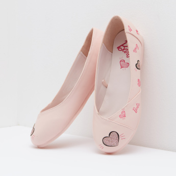 Barbie Printed and Applique Detail Ballerinas