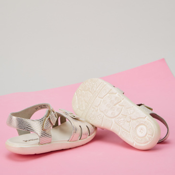 Juniors Bow Detail Sandals with Buckle Closure