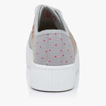 Missy Textured Lace-Up Sneakers