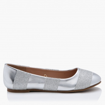 Little Missy Textured Ballerina Shoes