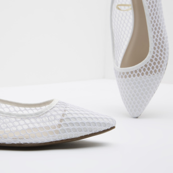 Textured Mesh Panelled Mules