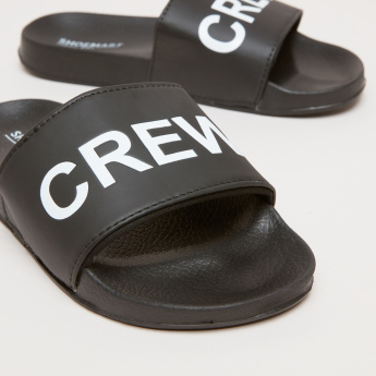 Printed Slides with Textured Footbed