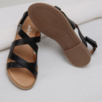 Little Missy Sandals with Hook and Loop Closure